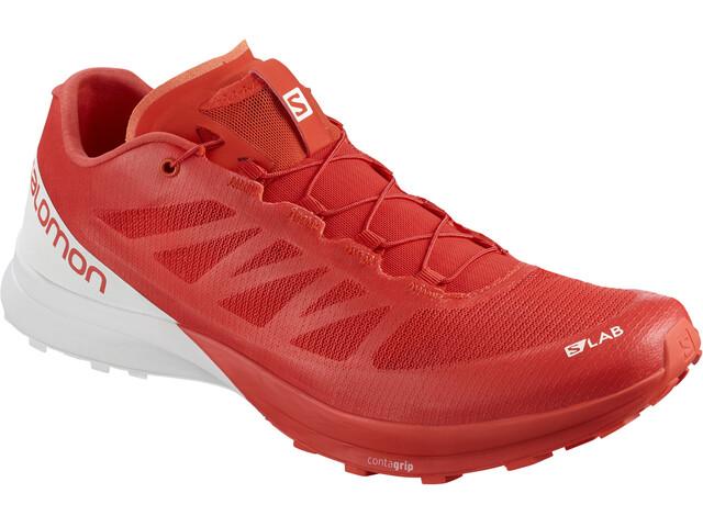 Salomon S/Lab Sense 7 Shoes Racing Red/White/White